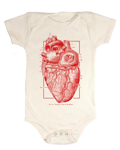 Anatomical Heart Organic Baby Bodysuit