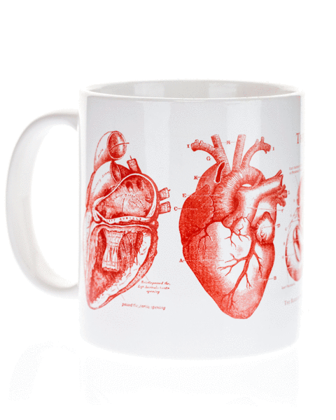 Anatomical Heart Mega Mug