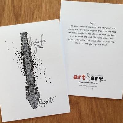 Spine - Thank You Card