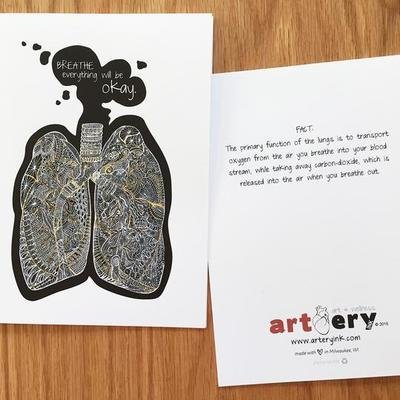 Lungs - Any Occasion Card