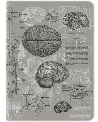 Gray Brain Anatomy Hardcover - Dot Grid