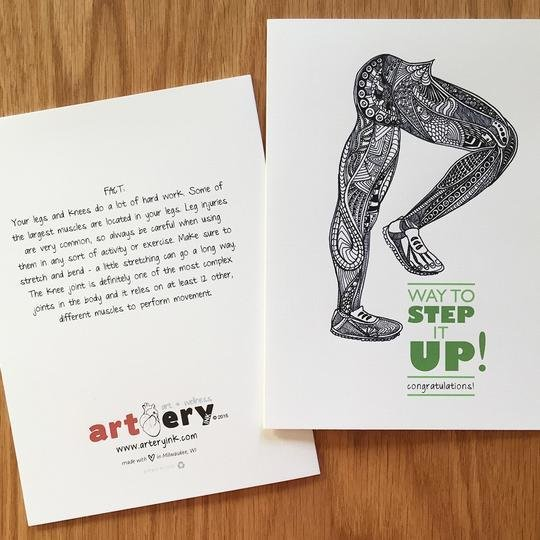 Step It Up Legs - Promotion / Encouragement  Card