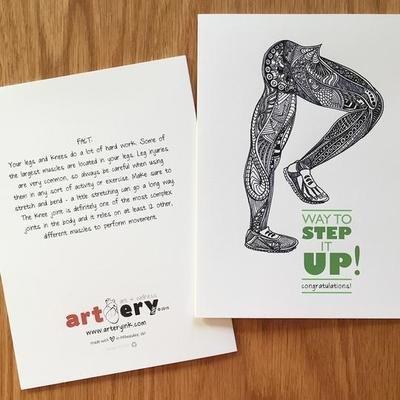 Step It Up Legs - Promotion / Encouragement  Card