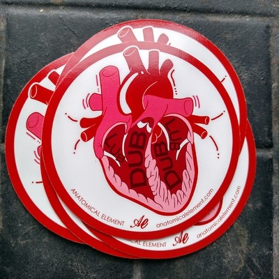Anatomical Element LUB DUB Heart Sticker