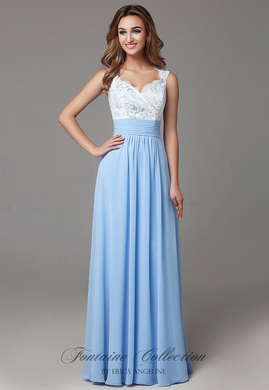 Lace Chiffon Bridesmaid Dress With Open Back