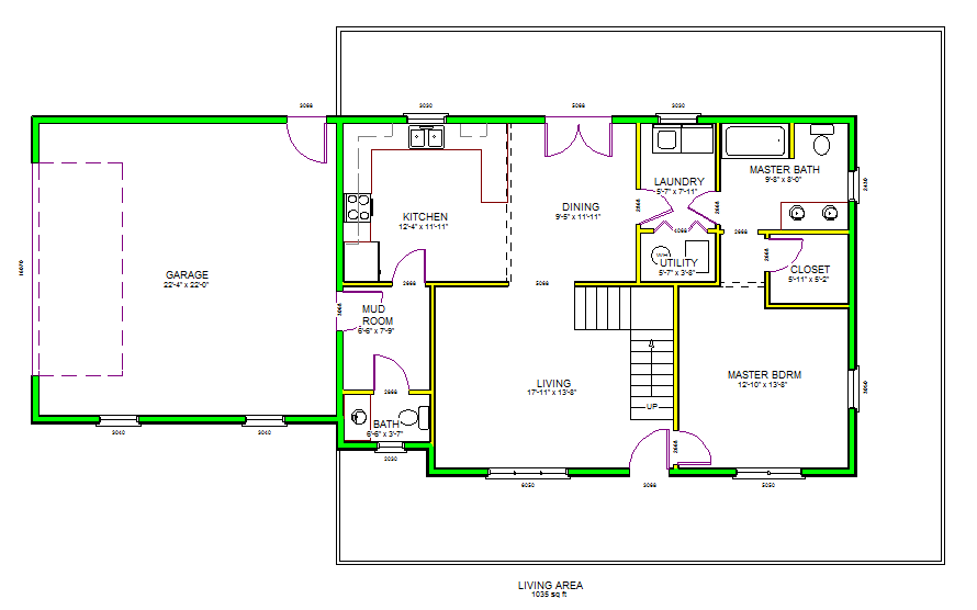 h105 custom home design in pdf and dwg file | house plansh105 custom