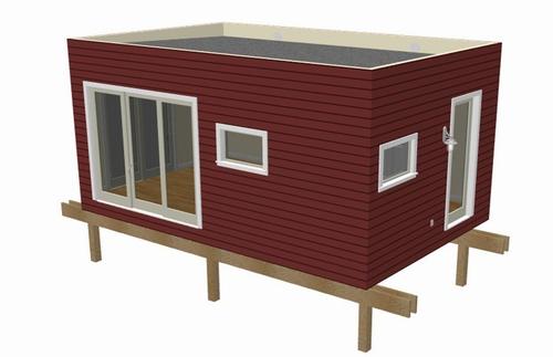 G444 14 X 24 X 10 Art Studio Addition Garage Plans