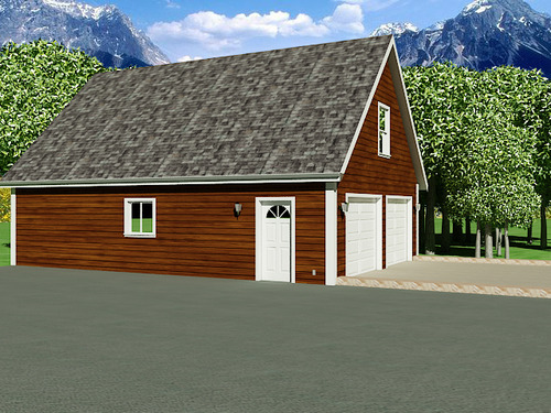 G196 26 39 x 36 39 garage with loft dwg and pdf garage plans for Cheap garage plans