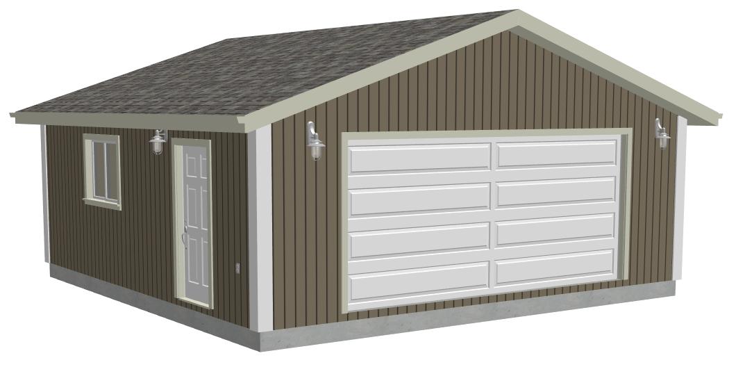 24 x 24 2 Car Garage 2 different plans – 24X28 Garage Plans