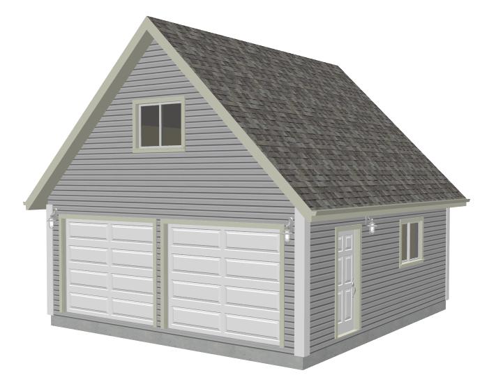 Nice G526 22 X 24   8u0027 Garage Plan With Loft DWG And ... Design Ideas