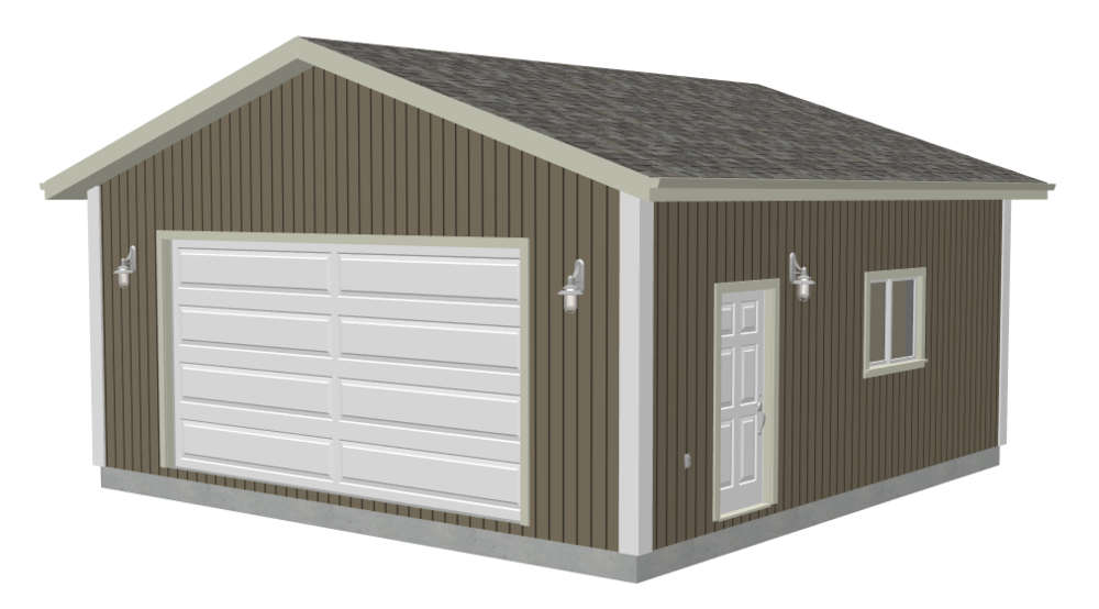 g555 24 x 24 x 8 Garage plans with PDF and DWG  X Garage on