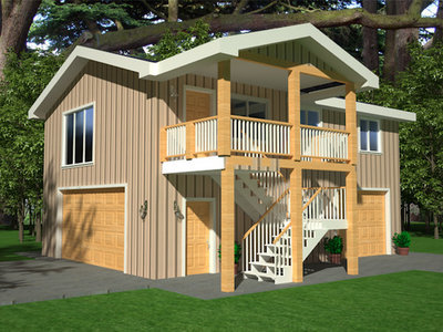 G418 Apartment Garage Plans 26 X 36 9 With 2nd Story