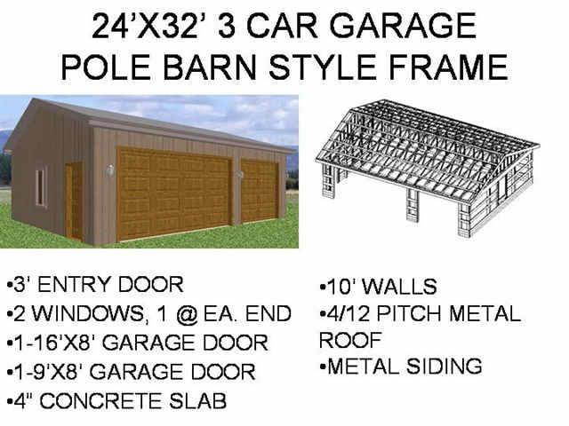 9 pole barn garage plans only 1999 - Pole Barn Garage Plans