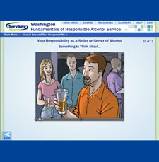 Washington Alcohol Server Online Course and Exam powered by ServSafe Alcohol® 00046