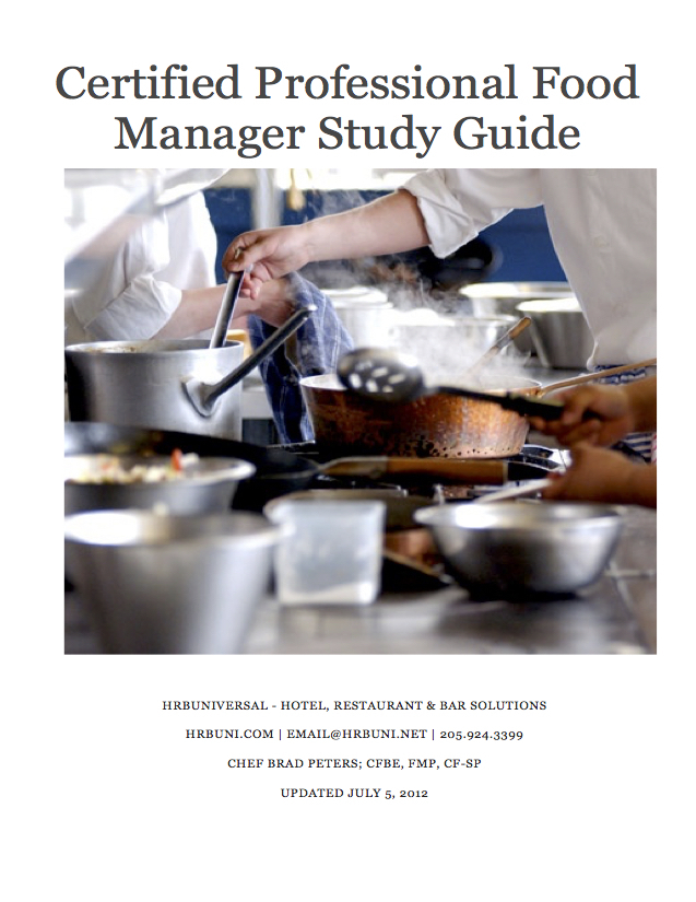 Certified Professional Food Manager Study 00179
