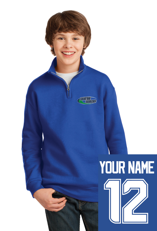 Youth NuBlend® 1/4-Zip Cadet Collar Sweatshirt