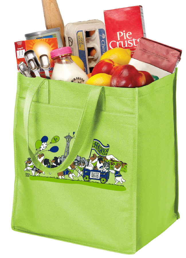 Extra-Wide Polypropylene Grocery Tote (Lime)