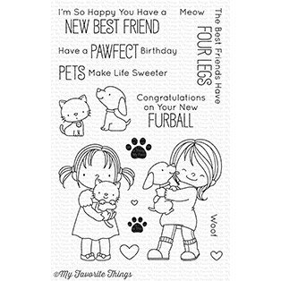 My favorite things NEW BEST FRIEND Clear Stamp Set