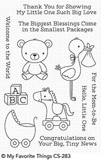 My favorite things HELLO, LITTLE ONE Clear Stamp Set