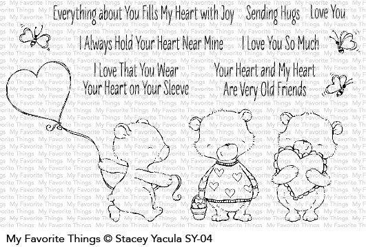My favorite things SY JOYFUL HEART BEARS Clear Stamp Set