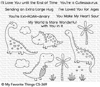 My favorite things CUTIEASAURUS Clear Stamp Set