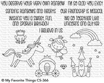 My favorite things RAINBOW & UNICORNS Clear Stamp Set