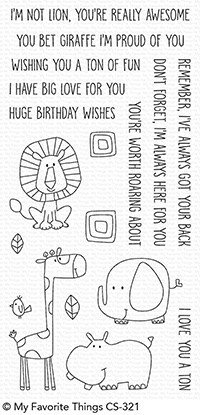 My favorite things SAFARI FRIENDS Clear Stamp Set