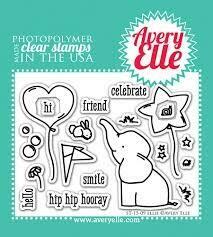Avery Elle ELLIE Clear Stamp Set