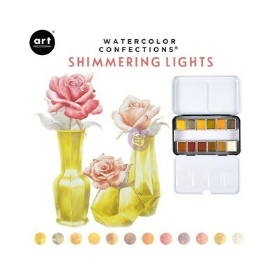 Prima Marketing SHIMMERING LIGHTS Watercolor Confections Pans in Box