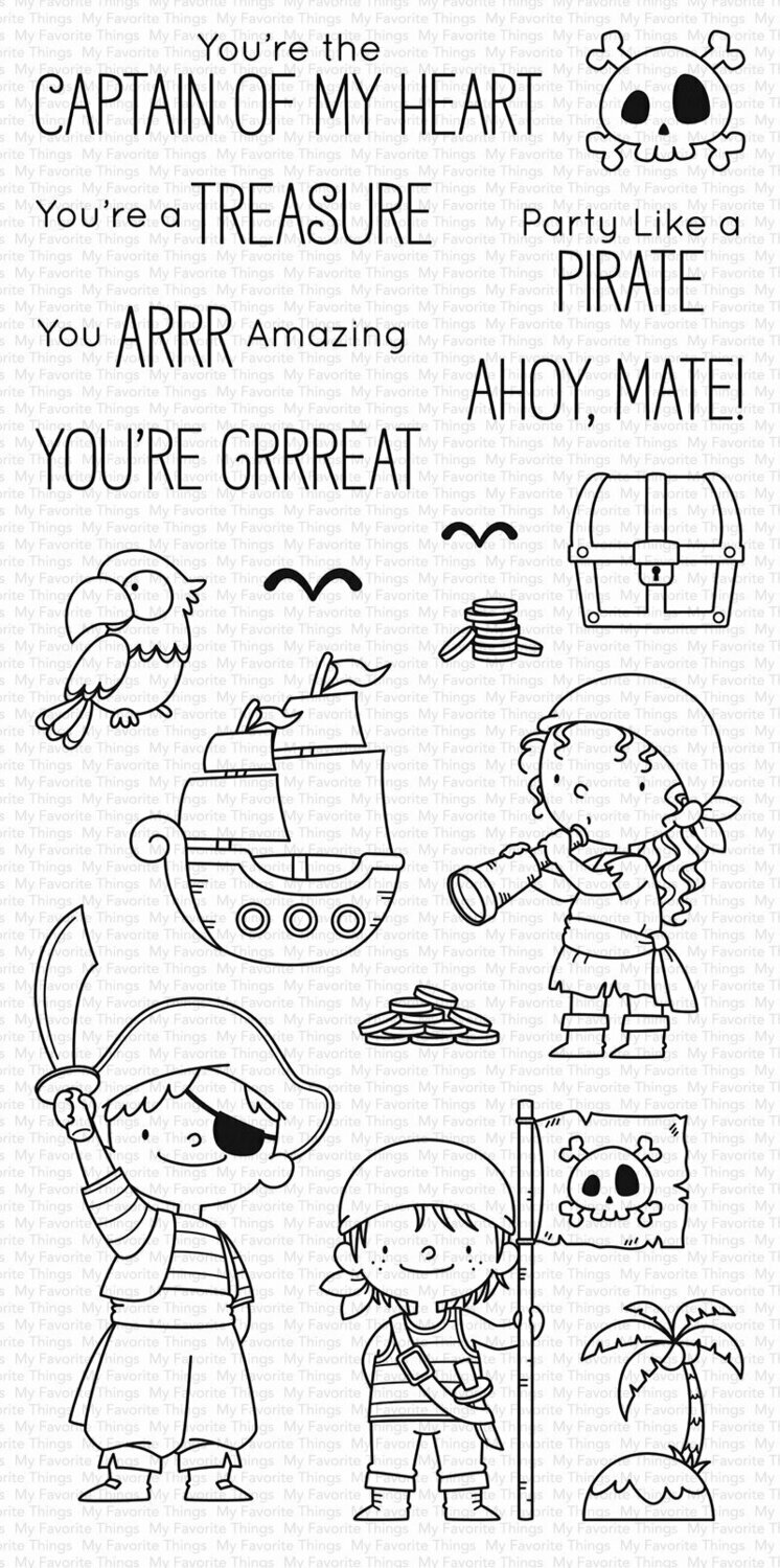 My Favorite Things PARTY LIKE A PIRATE Clear Stamp Set