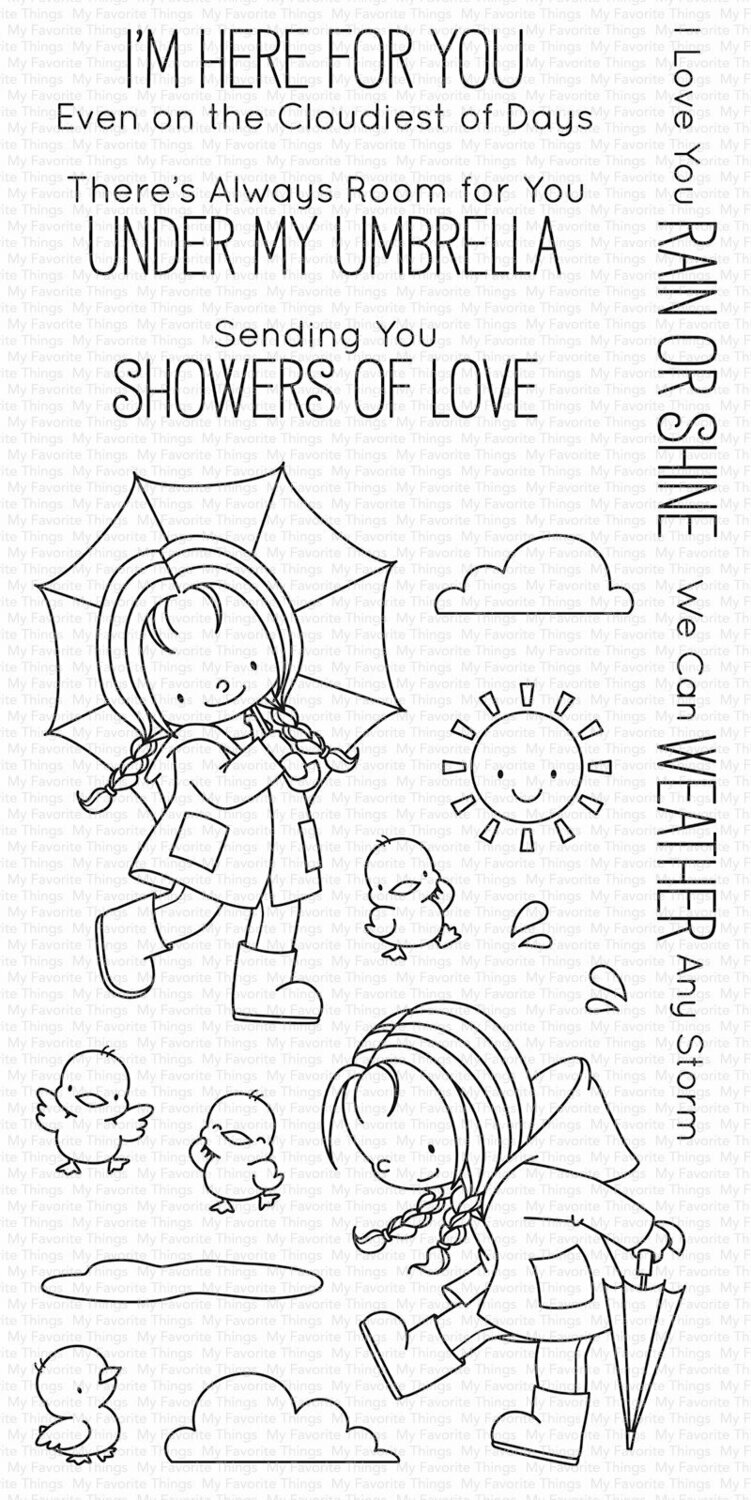 My Favorite Things RAIN OR SHINE Clear Stamp Set