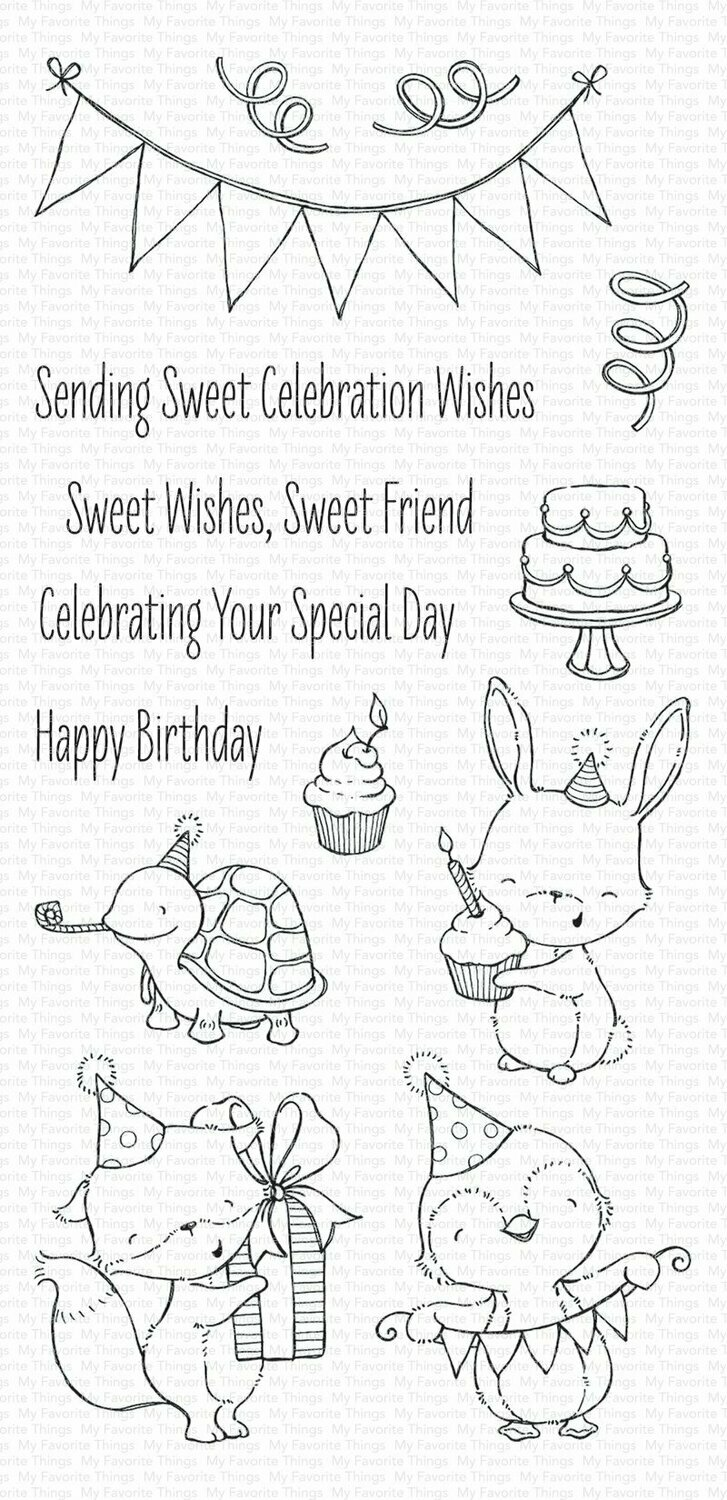 My Favorite Things SENDING SWEET CELEBRATION WISHES Clear Stamp Set