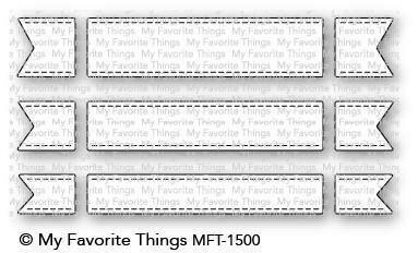 My Favorite Things FISHTAIL FLAG TRIO Die-namics Die Set