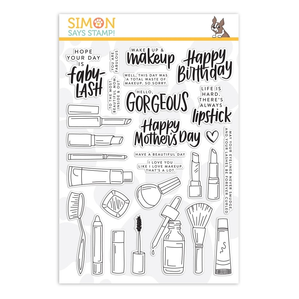 Simon Says Stamp WAKE UP AND MAKEUP Clear Stamp Set