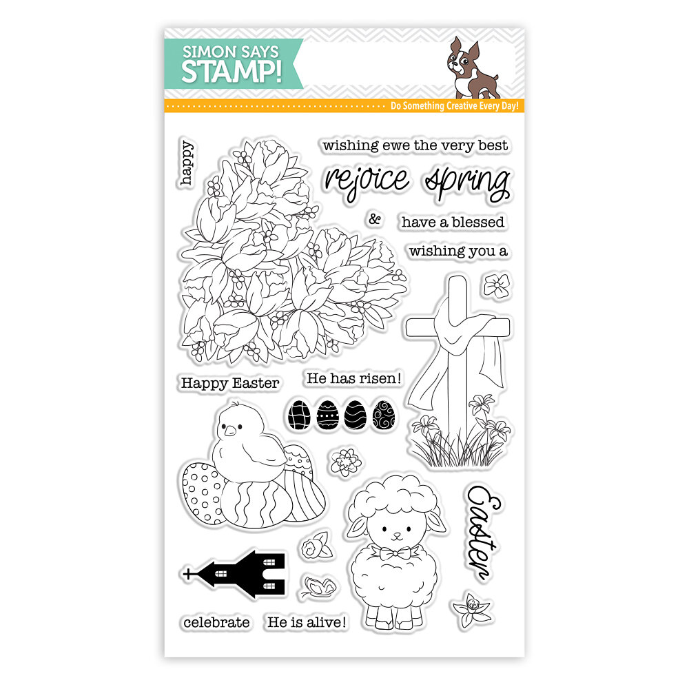 Simon Says Stamp EASTER WISHES Clear Stamp Set
