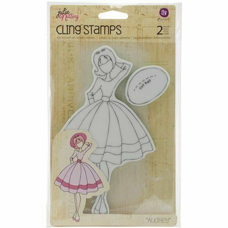 Prima Marketing AUDREY Mixed Media Doll Cling Stamp