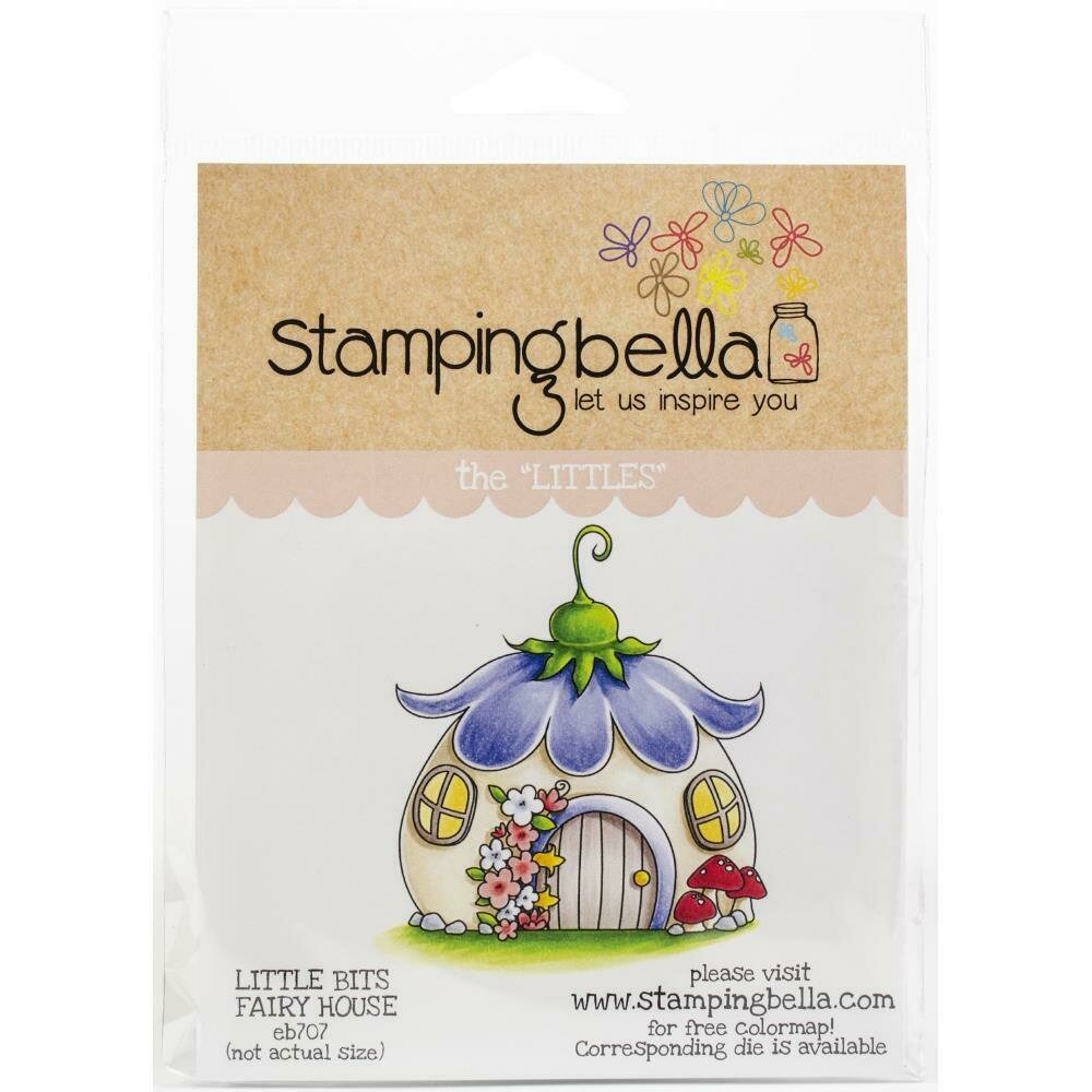 Stempingbella Little Bits FAIRY HOUSE Climg stamp