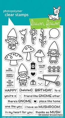 Lawn Fawn OH GNOME! Clear Stamp Set