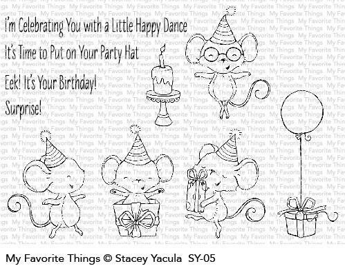 My Favorite Things IT'S A MICE TIME TO CELEBRATE Clear Stamp Set
