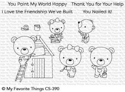 My Favorite Things BUILDER BEARS Clear Stamp Set