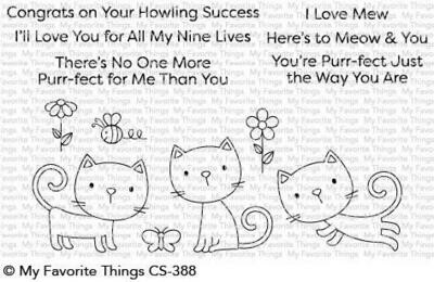 My Favorite Things PURR-FECT Clear Stamp Set