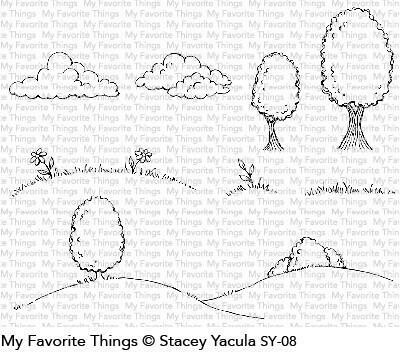 My Favorite Things SCENE BUILDER Clear Stamp Set