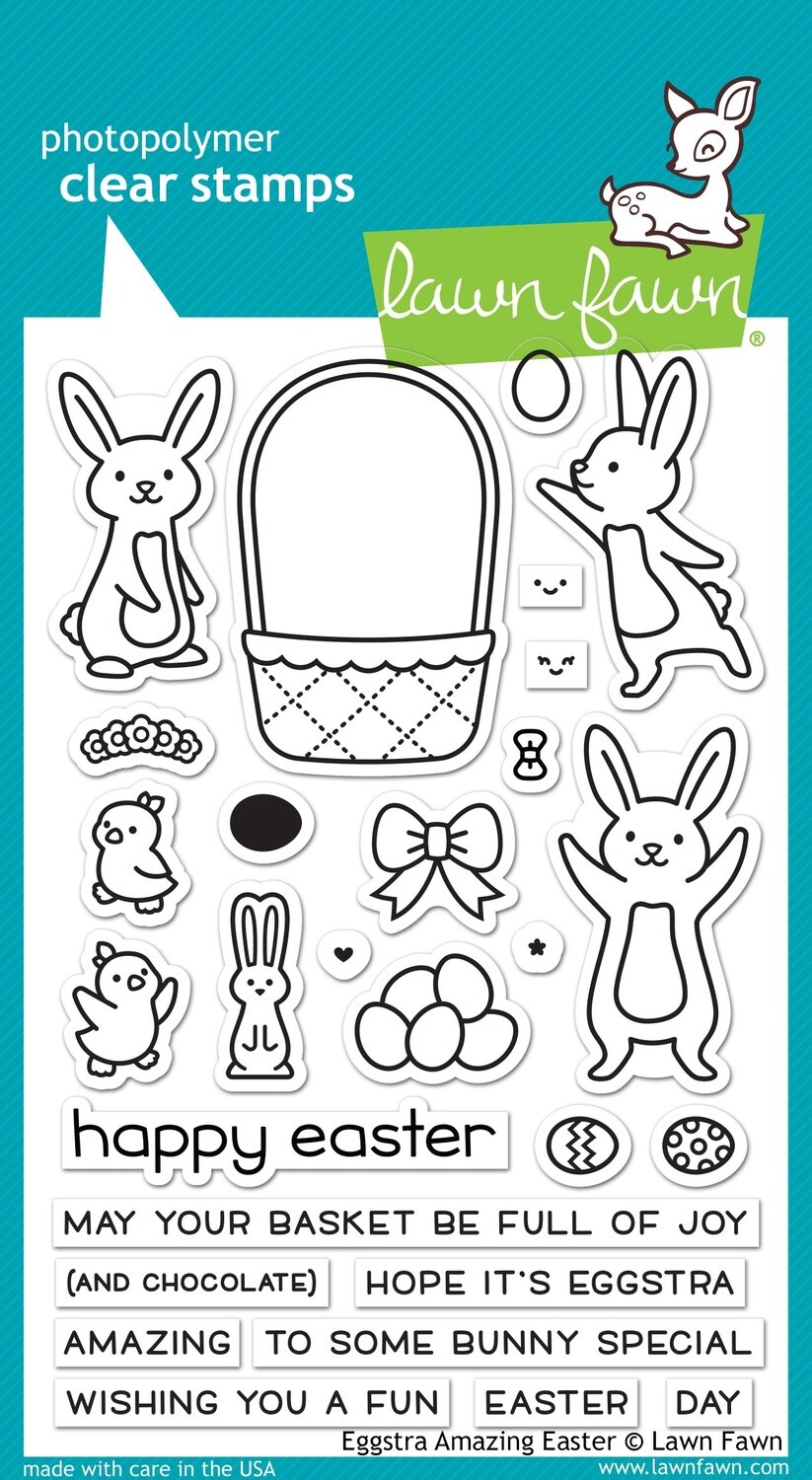 Lawn Fawn EGGSTRA AMAZING EASTER Clear Stamp Set