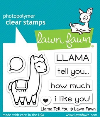 Lawn Fawn LLAMA TELL YOU Clear Stamp Set