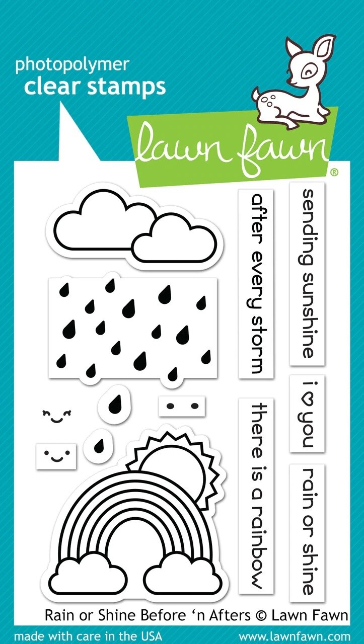 Lawn Fawn RAIN OR SHINE BEFORE 'N AFTERS Clear Stamp Set