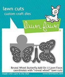 Lawn Fawn REVEAL WHEEL BUTTERFLY ADD-ON Die Set