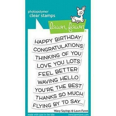 Lawn Fawn WAVY SAYINGS Clear Stamp Set