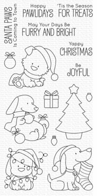 My Favorite Things BB HAPPY PAWLIDAYS Clear Stamp Set