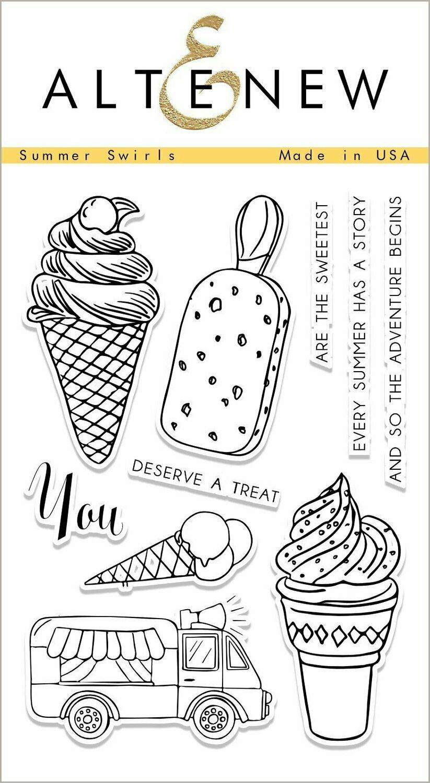 Altenew SUMMER SWIRLS Clear Stamp Set