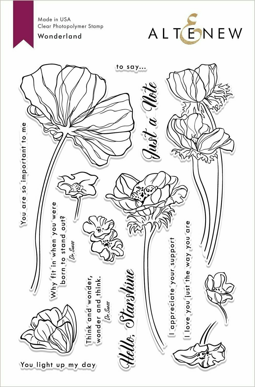 Altenew WONDERLAND Clear Stamp Set